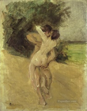love scene 1926 Max Liebermann German Impressionistic nude Oil Paintings