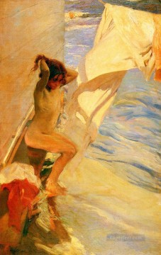 Antes Del Bano painter Joaquin Sorolla Impressionistic nude Oil Paintings