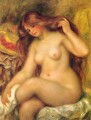 Bather with Blonde Hair female nude Pierre Auguste Renoir