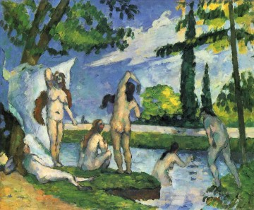 Bathers 1875 Paul Cezanne Impressionistic nude Oil Paintings