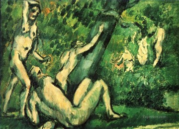 Nude and Ballerina Painting - Bathers 1887 Paul Cezanne Impressionistic nude