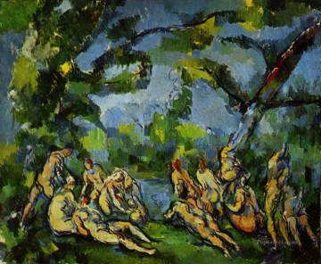 Bathers 1905 Paul Cezanne Impressionistic nude Oil Paintings