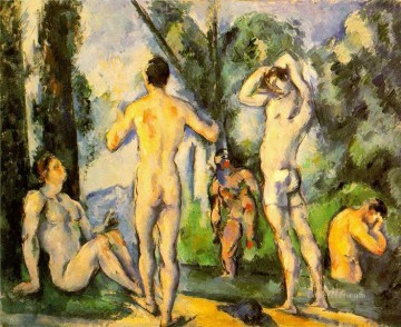 Nude and Ballerina Painting - Bathers 2 Paul Cezanne Impressionistic nude