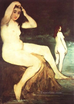 Bath Painting - Bathers on the Seine nude Impressionism Edouard Manet