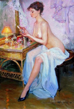 Beautiful Girl KR 013 Impressionist nude Oil Paintings