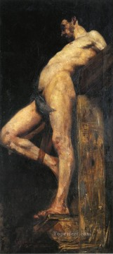 Nude and Ballerina Painting - Crucified Thief male body Lovis Corinth
