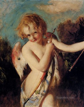Nude and Ballerina Painting - Cupid William Etty