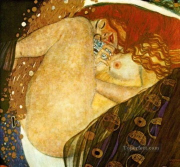 Danae Symbolism nude Gustav Klimt Oil Paintings