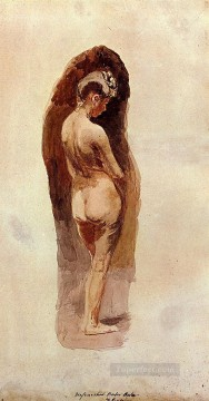 Nude and Ballerina Painting - Female Nude Realism Thomas Eakins
