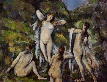Four Bathers 1890 Paul Cezanne Impressionistic nude Oil Paintings