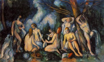 Large Bathers Paul Cezanne Impressionistic nude Oil Paintings
