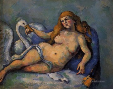 Nude and Ballerina Painting - Leda and the Swan Paul Cezanne Impressionistic nude