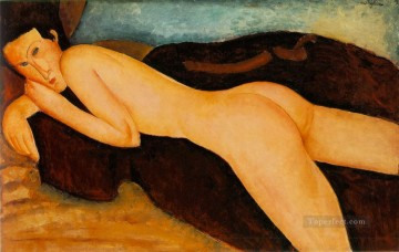 Amedeo Oil Painting - Nu couche de dos Reclining Nude from the Back modern nude Amedeo Clemente Modigliani