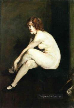 Nude and Ballerina Painting - Nude Girl Miss Leslie Hall Realist Ashcan School George Wesley Bellows