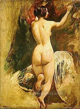 Impressionist Nude Painting - Nude Woman from Behind female body William Etty