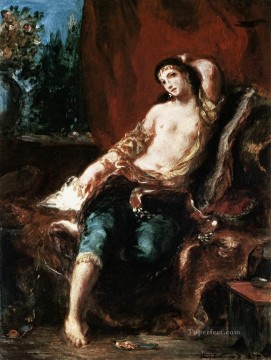 Nude and Ballerina Painting - Odalisque Romantic Eugene Delacroix