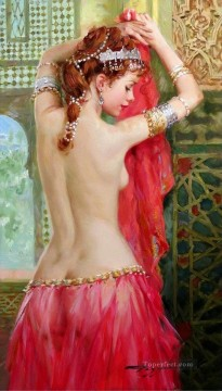 Odalisque pres de la fenetre Impressionist nude Oil Paintings