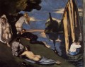Pastoral or Idyll Paul Cezanne Impressionistic nude