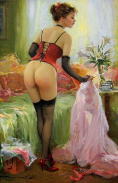 Nude and Ballerina Painting - Pretty Lady KR 063 Impressionist nude