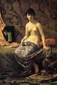 Roman Model Posing nude Elihu Vedder Oil Paintings