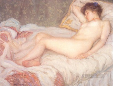Nude and Ballerina Painting - Sleep Impressionist nude Frederick Carl Frieseke