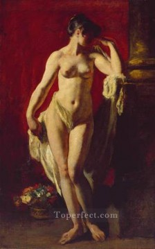 Impressionist Nude Painting - Standing Female Nude female body William Etty