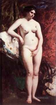 Impressionist Nude Painting - Standing Nude female body William Etty