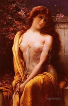 Starlight girl Emile Vernon Impressionistic nude Oil Paintings