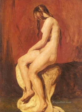 Impressionist Nude Painting - Study Of A Female Nude female body William Etty