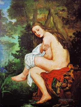 Surprised Nymph Eduard Manet Impressionistic nude Oil Paintings