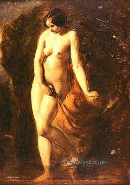 Impressionist Nude Painting - The Bather female body William Etty