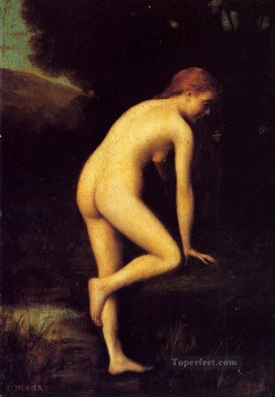 Nude and Ballerina Painting - The Bather nude Jean Jacques Henner