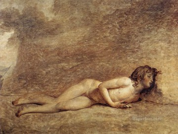 Nude and Ballerina Painting - The Death of Bara Jacques Louis David