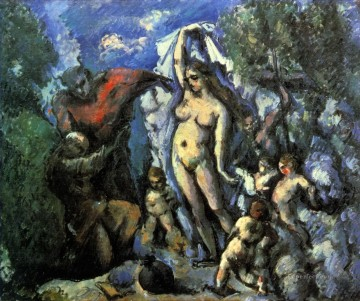 Nude and Ballerina Painting - The Temptation of St Anthony Paul Cezanne Impressionistic nude