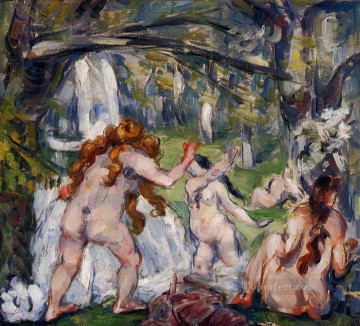Nude and Ballerina Painting - Three Bathers Paul Cezanne Impressionistic nude
