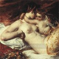 Venus and Cupid female body William Etty