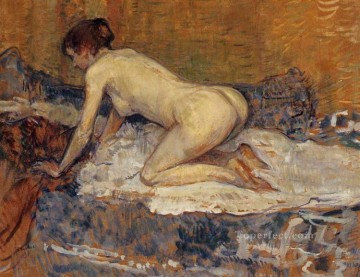 crouching woman with red hair 1897 Toulouse Lautrec Henri de Impressionistic nude Oil Paintings