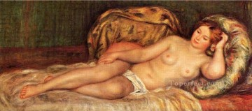 Pierre Works - nude on cushions Pierre Auguste Renoir