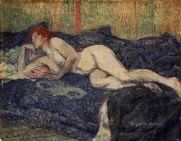 reclining nude 1897 Toulouse Lautrec Henri de Oil Paintings