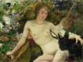 the model Ilya Repin Impressionistic nude