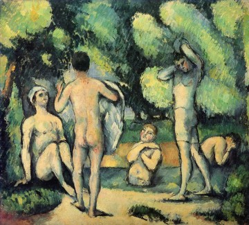 Bathers 1880 Paul Cezanne Impressionistic nude Oil Paintings
