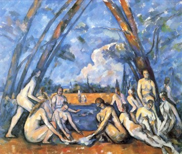 Bather Art - Large Bathers 2 Paul Cezanne Impressionistic nude