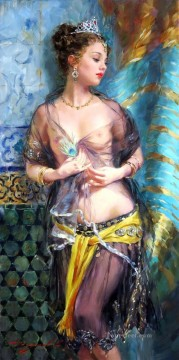Odalisque a la plume Impressionist nude Oil Paintings