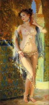 Odalisque au rayon de Soleil Impressionist nude Oil Paintings