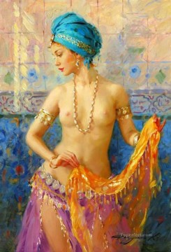 Pretty Lady KR 023 Impressionist nude Oil Paintings