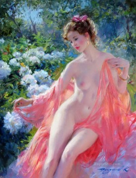 Pretty Lady KR 031 Impressionist nude Oil Paintings