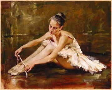 Nude Ballet Painting - Before the dance Ballet