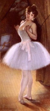 Nude Ballet Painting - Danseuse ballet dancer Carrier Belleuse Pierre