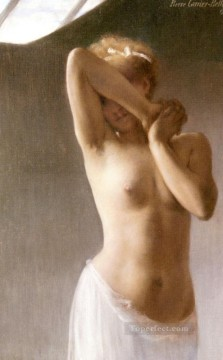 Nude Ballet Painting - La Premiere Pose Carrier Belleuse Pierre Ballet