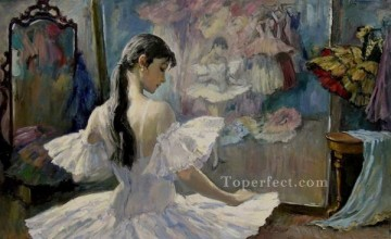 AX Painting - Maximova in the dressing room Ballet